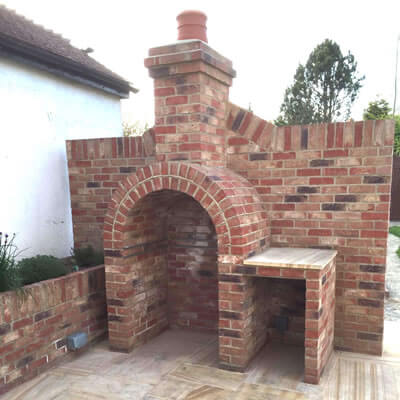 Specialised Brickwork. Barbeque and Garden Cooking Station. Bexhill East Sussex